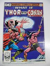What If #39 Mighty Thor Battled Conan The Barbarian? (Marvel Comics 1983) FN+