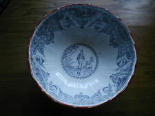 J & M P Bell & Co Glasgow Fantastic large bowl Comm. Burns Scenes etc