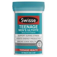SWISSE TEENAGE MEN'S ULTIVITE MULTIVITAMIN 60 TABLETS STRESS ENERGY SKIN HEALTH