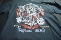 Bike Week 2008 Black Graphic Tee XL ( NO SIZE TAG) Men's Shirt