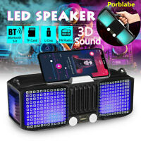 Portable LED bluetooth 5.0 Speaker Stereo Loud Bass Subwoofer Wireless Boombox
