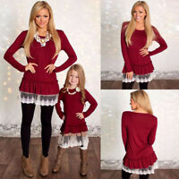 Mother and Daughter Lace Clothes Parent-child dress Family Matching Outfits Set