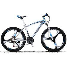 "21 speeds Mountain Bike 3 Spokes Bicicleta Plegable Wheels 26"" Blue Disc Brakes"