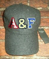 MENS ABERCROMBIE & FITCH GRAY HAT ADJUSTABLE STRAPBACK CAP ONE SIZE