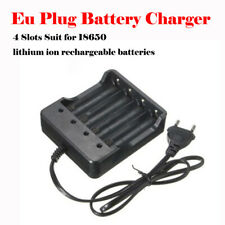 Eu Plug 4Slots Battery Charger With Protection 18650 Lithium-Ion Battery UK