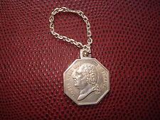 PORTE-CLES  JETON en ARGENT MASSIF  Louis XVIII Roi de France