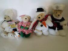Lot of 4 Muffy Vanderbear Holiday Bears Snowbear, Winter Princess, Candy Cane +