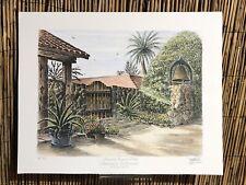Ted Wade Stone Lithograph 24/13 Rancho Buena Vista Servants Entrance Vista, Cal