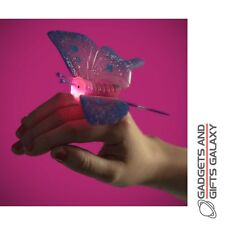 SPARKLY & FLASHING BUTTERFLY RING LIGHT UP toy gift childs stocking filler