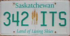 SASKATCHEWAN Canada License Plate Land of Living Skies Wheat SK - Random Letters