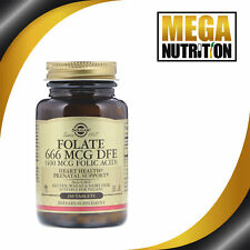 Solgar Acide Folique (Conforme Metafolin) 666 Mcg Dfe 250 Comprimés Supplément