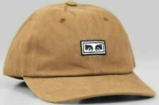 Obey SUBVERSION Mens 100% Cotton Adjustable Snapback Hat Bone Brown NEW