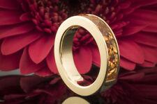 Schmuck Designer Ring mit spitz zulaufendem Carré Citrin in 750er Gelbgold 18K