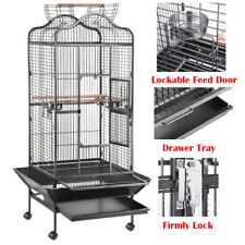 New listing Large Bird Cage Parrot Parakeet Finch Play Top House Macaw Cockatoo Pet Supply