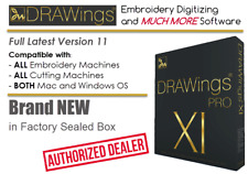 Drawings Pro Xi 11 Embroidery Machine Digitizing +More! Software | Windows + Mac