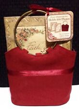 2 Photo Albums In Suede Gift Tote - Ornate Floral - Sheffield Home - 208 Photos