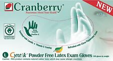 Cranberry Cyntek Latex PF Exam Gloves, Size SMALL, #7836, 1000/case (10 bxs)