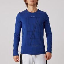 SZ L VERY RARE!! Nike Men's Nikecourt Agassi Long Sleeve T-Shirt Blue 777873-455