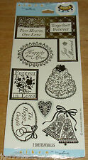 Hallmark Stickeroni Stickers Wedding Day 2 Sheets 18 Pcs Free Shipping Over $15