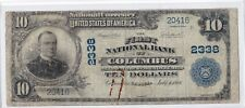 "$10 1902 PB First National COLUMBUS Georgia GA ""RARE"" Title 2 Note 12 on Census!"