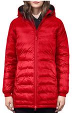 EUC Women's CANADA GOOSE Camp Hooded Coat, Medium, Red