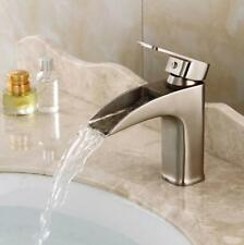 Bathroom Basin Sink Faucet Waterfall Spout Mixer Hot Cold Tap Single Handle Hole