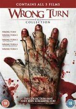 Wrong Turn / Wrong Turn 2 / Wrong Turn 3 / Wrong Turn 4 / Wrong Turn 5 (DVD, 2013, 5-Disc Set, Box Set)