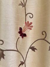 Pair -Drapes, Floral Embroidered w/ Tassel Trim, Pinch Pleat, Custom
