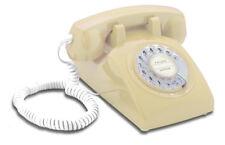 Opis 60s cable mit Deutsche-Post-Einleger: Retrotelefon mit Wählscheibe beige