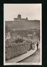 Somerset Weston-super-Mare UPHILL Old Church + local children Used 1913 RP PPC