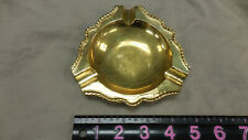 "Metal Brass 5"" Cigarette Ashtray Tobacciana"