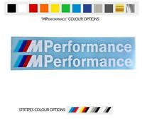 For 2 x BMW M PERFORMANCE VINYL STICKERS Bumper Window Side Skirt DECAL Graphics