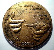 BIG BRONZE MEDAL - TRIBUTE TO LACE MAKING IN ALENCON FRANCE - 1978 / 82 mm N131