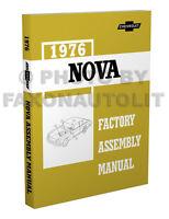 1976 Chevy Nova Factory Assembly Manual 76 Exploded Views Chevrolet LN Custom