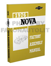 1976 Chevy Nova Factory Assembly Manual 76 Exploded Views Chevrolet LN Custom