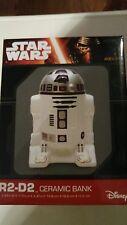 CERAMIC STARWARS R2-D2 BANK BY DISNEY NIB