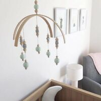 Baby Rattle Mobile Toys Wooden Beads Crib Toy Bed Hanging Newborn Wind Chimes Z1