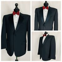 "Mens Tuxedo Dinner Evening Suit Jacket Black Formal Cruise Prom Chest  34"" - 58"""