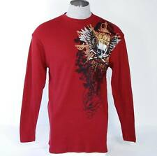 Avirex Long Sleeve Red Thermal Skull Shirt Mens Small S NWT