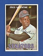 1967 Topps # 64 Fred Valentine - Washington Senators - NM+  Additional ship free