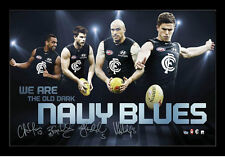 Carlton Football Club 4 players Chris Judd,Marc Murphy,Chris Yarran,Bryce Gibbs