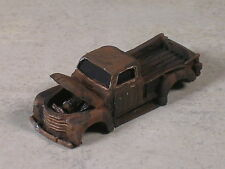HO 1951 Black Rusted Out Chevy Pickup Truck
