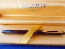 WATERMAN EXCLUSIVE MARBLE TORTOISE & GOLD  FINE FOUNTAIN PEN 18K GOLD IN BOX **