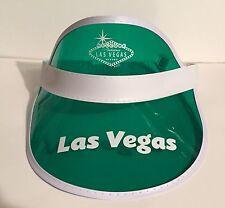 Las Vegas Sign Green Dealer Poker Visor WPT Playing Cards Gambling Casino