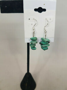 4-Stone Rustic Turquoise Earrings