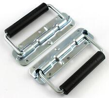 2 x 140mm Spring loaded surface handles - Flight case box-  equipment audio 35kg