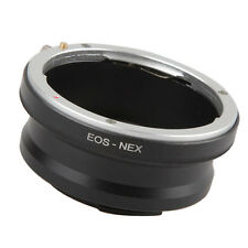 Canon EF Lens to Sony E-Mount NEX3 NEX5 Series Camera Adapter Ring EOS-NEX Black