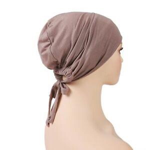 Muslim Modal Adjustable Underscarf Rope Cap Inner Hijab Stretch Headscarf Bonnet