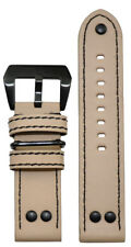 22mm XL Panatime MB-1 Vintage Natural Beige Pilot Watch Band 22/22 135/85
