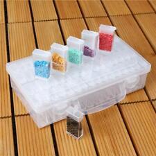 64 Slots Bottles Diamond Painting Storage Box Kit Art Nail Accessories Case New